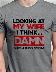 Lucky Woman Grey Tshirt