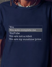 You Complete Me Navy Tshirt