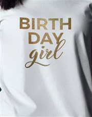 Birthday Girl Glitter T Shirt