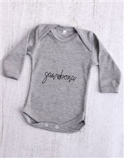 Sawubona Grey Baby Onesie