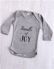 Bundle of Joy Grey Baby Onesie