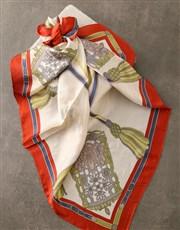 Chain Design Silk Scarf Combo