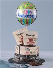 Anniversary Biltong Cake