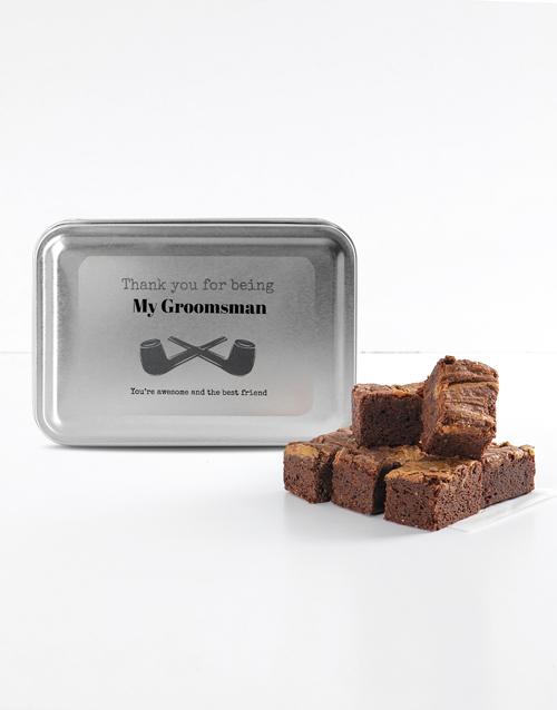 brownies: Personalised Special Thanks Peanut Butter Brownies!