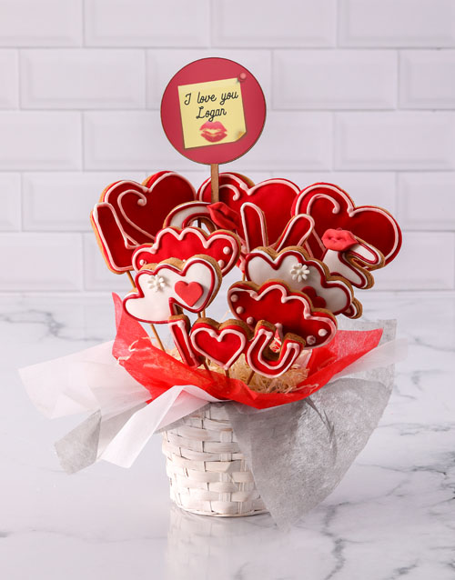 cookies-and-biscuits: Personalised Lovely Cookie Bouquet!