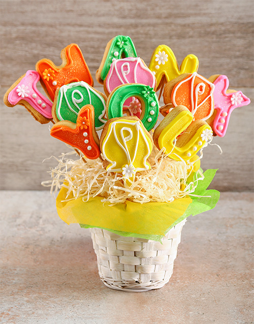 cookies-and-biscuits: Thank You Flowers Cookie Bouquet!