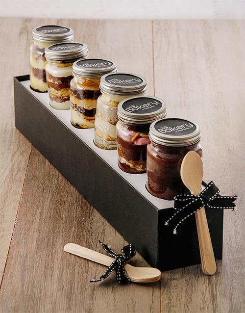 halloween: 6 Chocolate Fantasy Cupcakes in a Jar Combo!