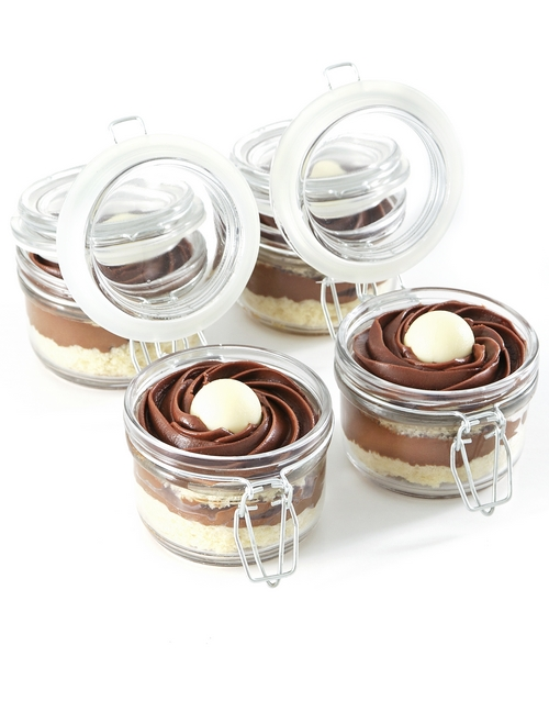 lindt-cakes-and-cupcakes: Dark Lindt Chocolate Mousse Cupcakes in a Jar!