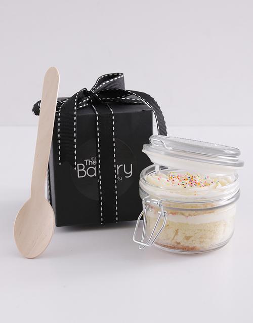 cupcake-jars: Single Vanilla Cupcake in a Jar!