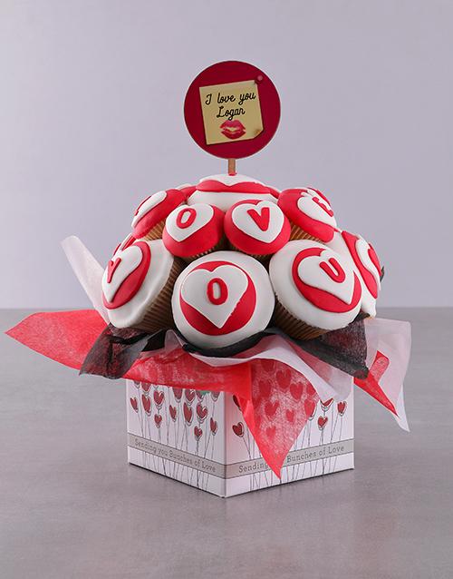 anniversary: Personalised Romantic Love Cupcake Bouquet!