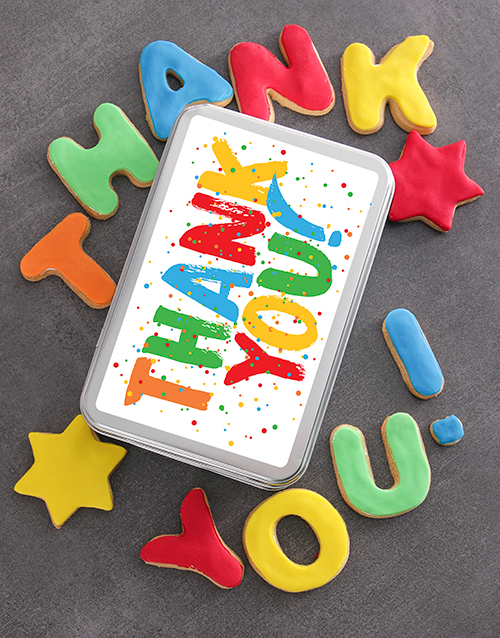 teachers-day: Colourful Thank You Cookie Tin!
