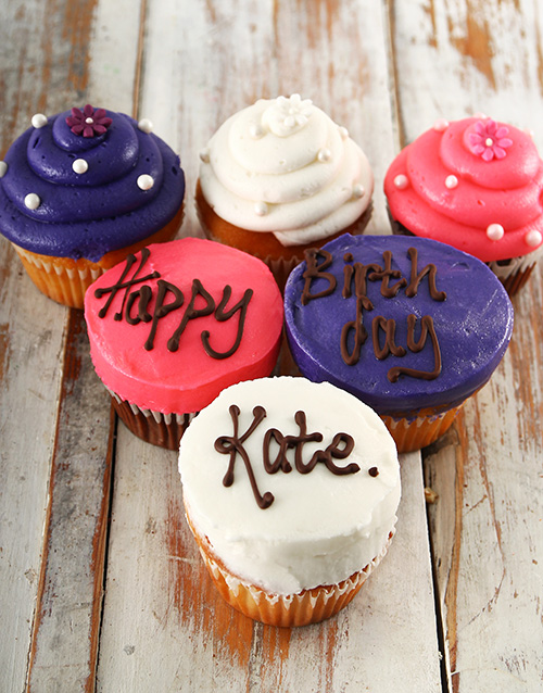 birthday: Personalised Birthday Cupcakes for Her!