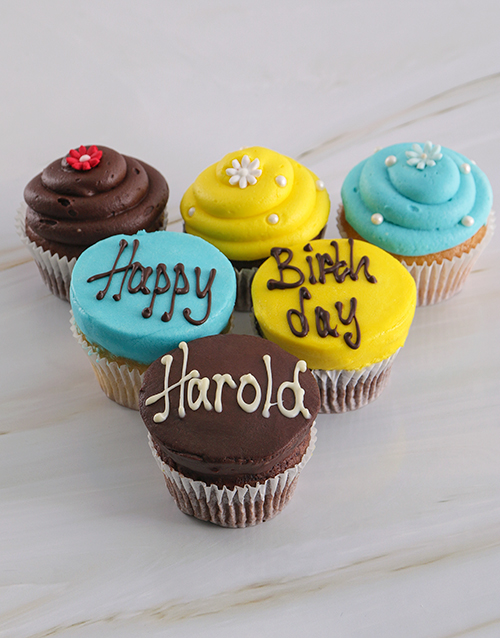 bakery: Personalised Birthday Cupcakes for Him!