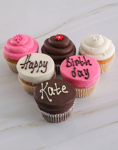 gifts: Personalised Birthday Girl Cupcakes!
