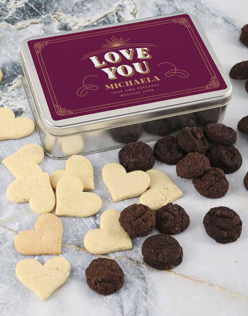 bakery: Personalised Love You Cookie Tin!