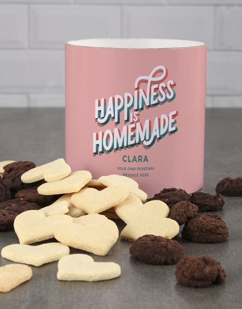 mothers-day: Personalised Colourful Happy Home Cookie Tube!