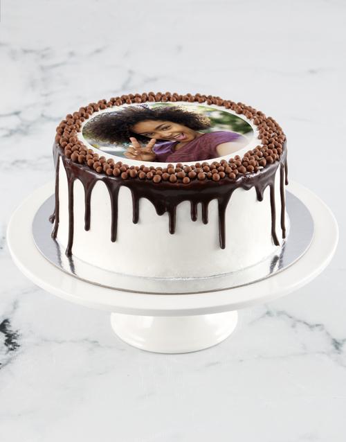 anniversary: Personalised Vanilla Photo Drip Cake!