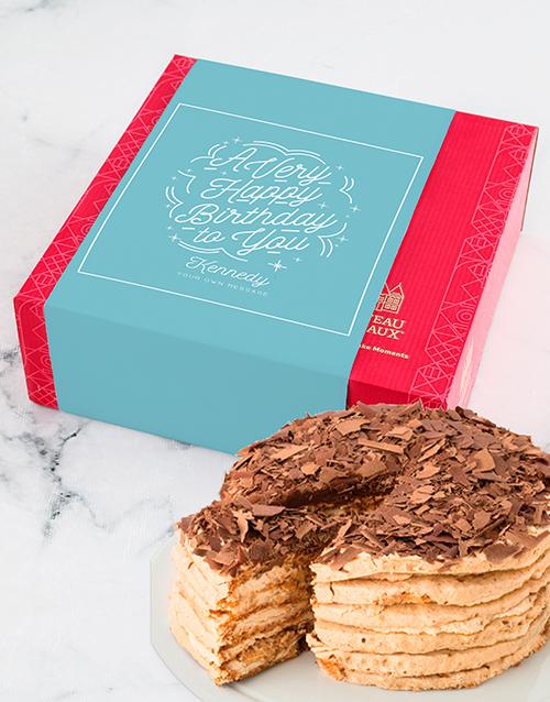 birthday: Personalised Chateau Gateaux Birthday Cake!