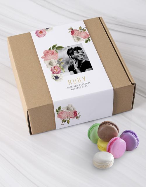 birthday: Personalised Flowery Photo Macaroon Box!