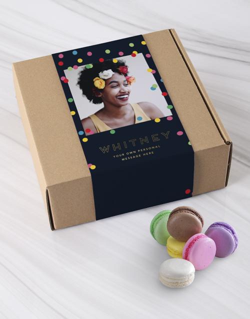 birthday: Personalised Polka Dot Photo Macaroon Box!