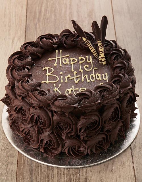 birthday: Chocolate Rose Cake!