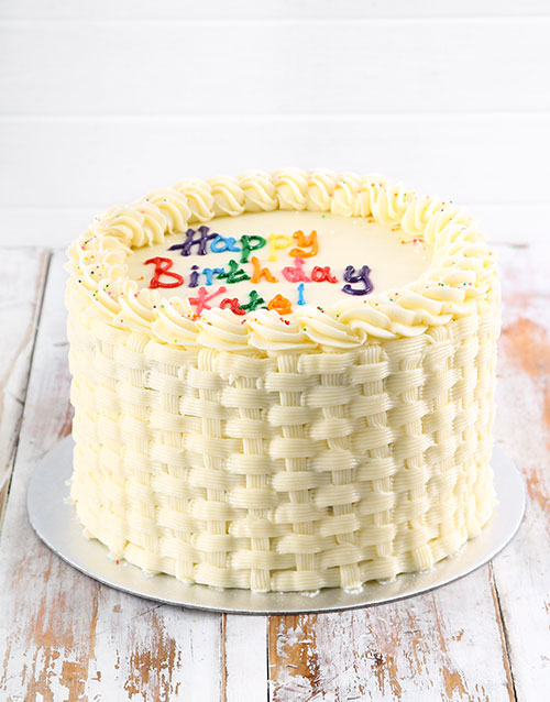 gifts: Simple Vanilla Birthday Cake!