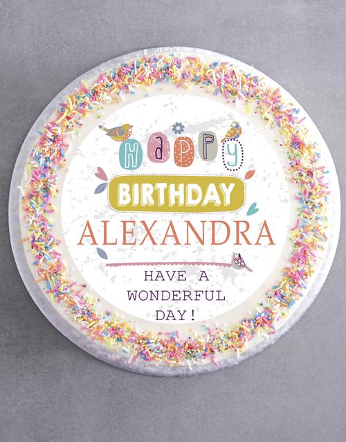 birthday: Personalised Birthday For Her Cake!