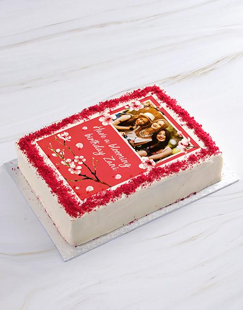 birthday: Blooming Birthday Photo Cake!