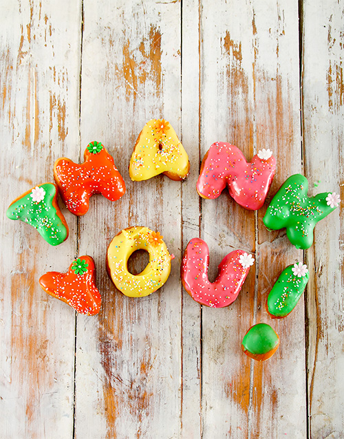 teachers-day: Personalised Doughnuts 1 to 9 Letters!