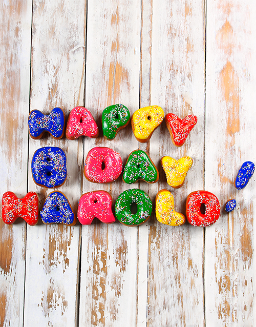 christmas: Personalised Doughnuts 10 to 16 Letters!