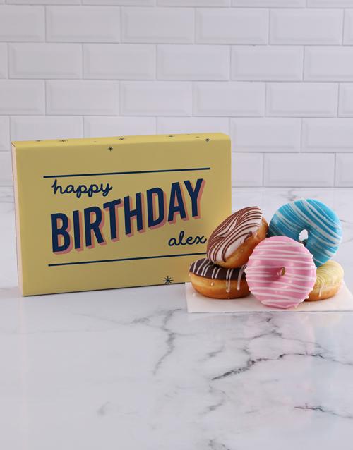 birthday: Personalised Happy Birthday Doughnuts!