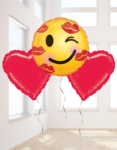 balloon: Love Emoji Balloon Bouquet!