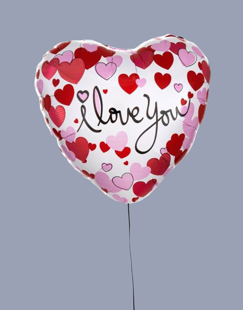 prices: I Love You Dotted Hearts Balloon!