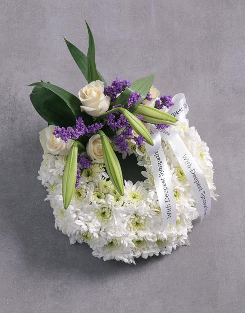 sympathy: Funeral Wreath!