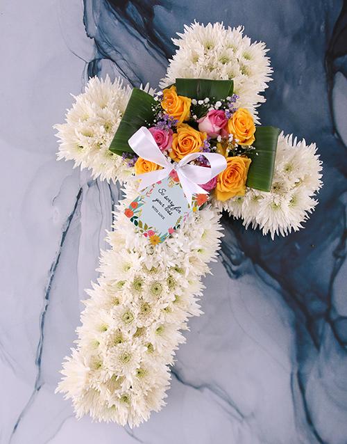 flowers: Floral Sympathy Cross!