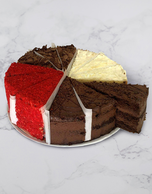 birthday: Chateau Gateaux Four Flavours Variety Cake!