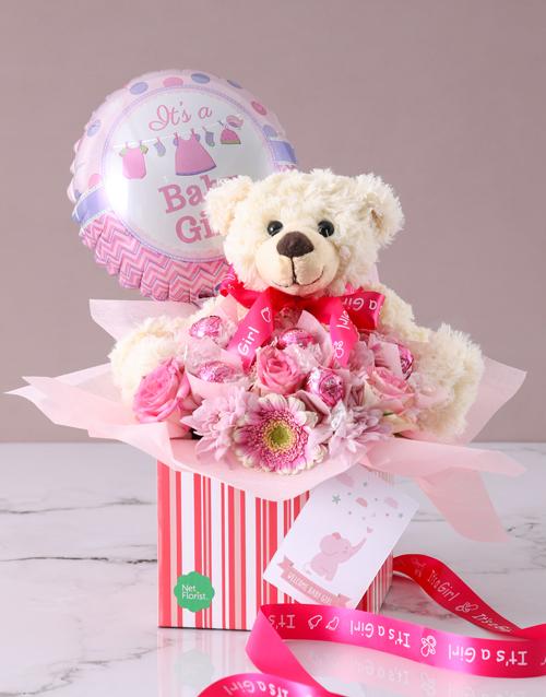 teddy-bears: Its A Baby Girl Edible Arrangement!