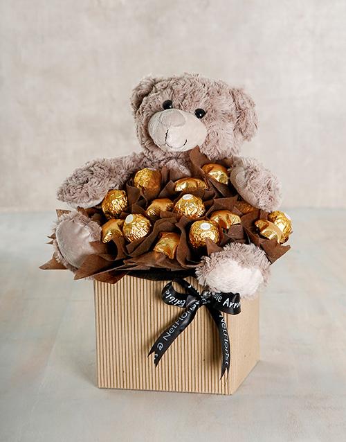 edible-arrangments: Chocolate and Hug Arrangement!
