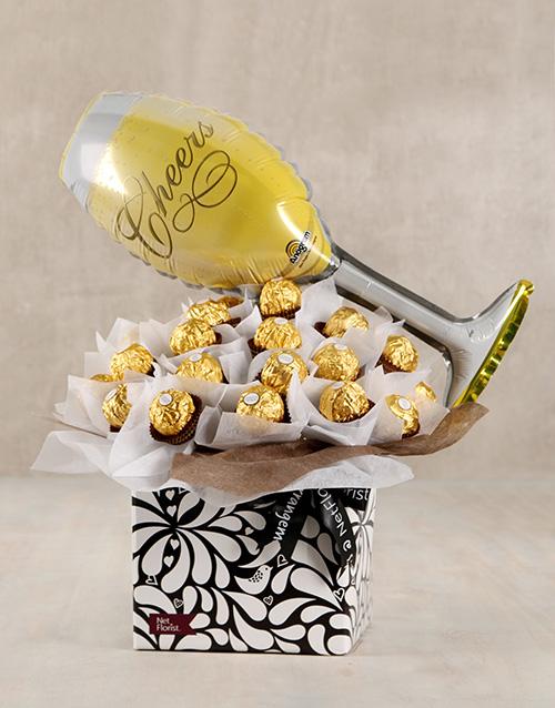 edible-arrangments: Cheers to Life Ferrero Rocher Box!