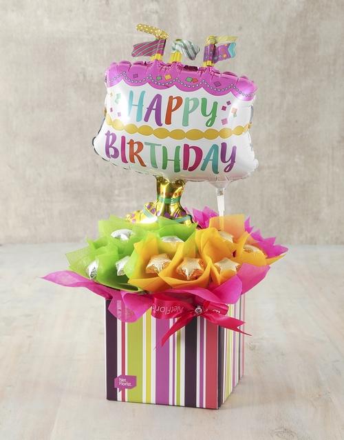 cyber-monday: Happy Birthday Cake Edible Arrangement!