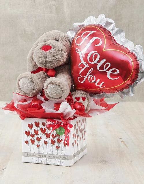 edible-chocolate-arrangements: Love You Balloon and Teddy Box!