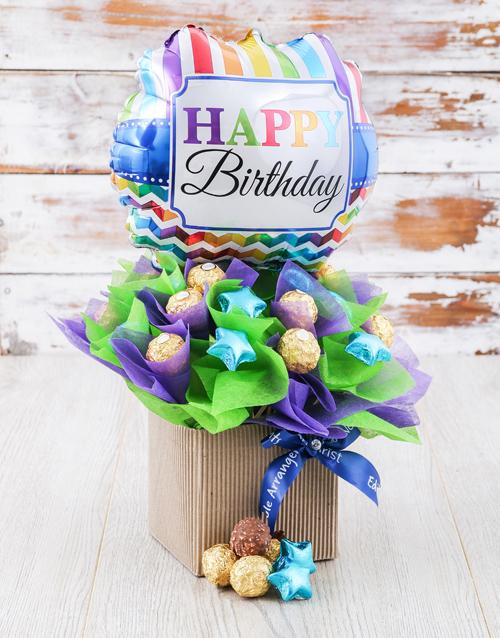edible-chocolate-arrangements: Happy Birthday Balloon Edible Arrangement!