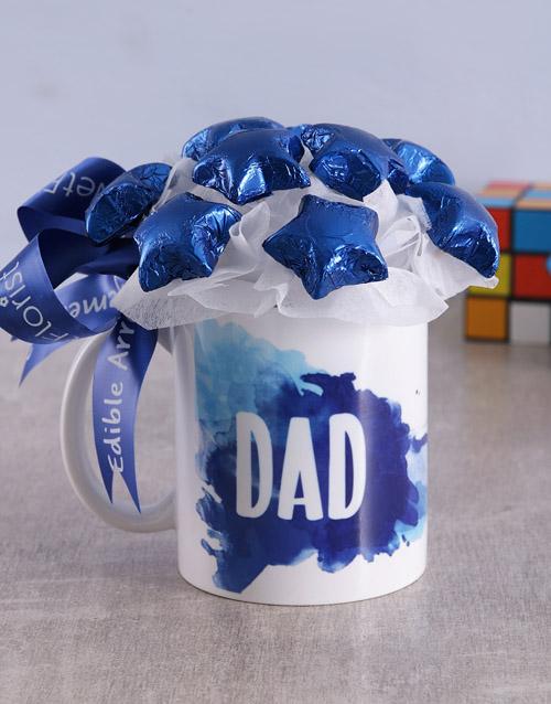 edible-chocolate-arrangements: Star Dad Arrangement in Mug!