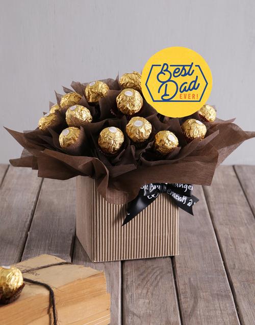 edible-arrangments: Best Dad Ferrero Box!