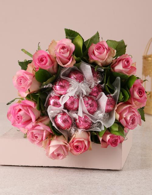 edible-arrangments: Pink Rosy Chocolate Arrangement!
