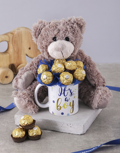 edible-arrangments: Its a Boy Brown Bear Arrangement!
