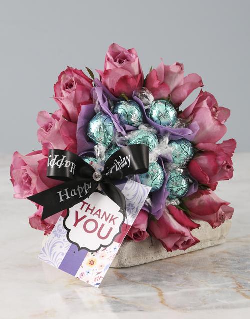 flowers: Thank You Purple Rose Edible Arrangement!