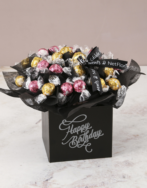 edible-arrangments: Refined Lindt Truffle Birthday Bouquet!
