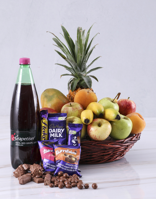 halloween: Fruit with Cadbury and Sparkling Juice!
