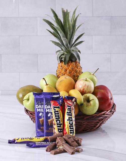 baskets: Fresh Fruit and Cadbury Chocolate Basket!
